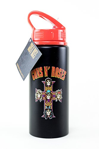 GB eye Ltd Guns N Roses, Logo Drinking Bottle, Aluminium, Multi-Colour, 7.2 x 7.2 x 21.7 cm from GB Eye Limited