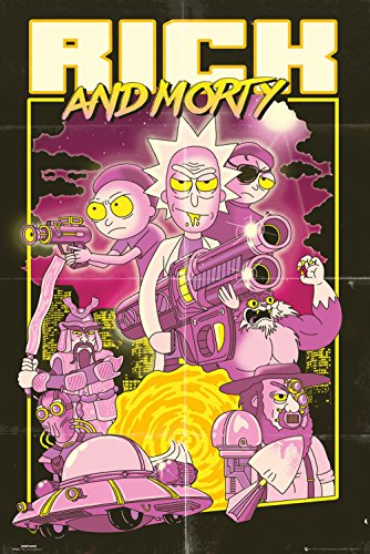 GB eye Rick and Morty, Action Movie, Maxi Poster, Various from GB eye Ltd