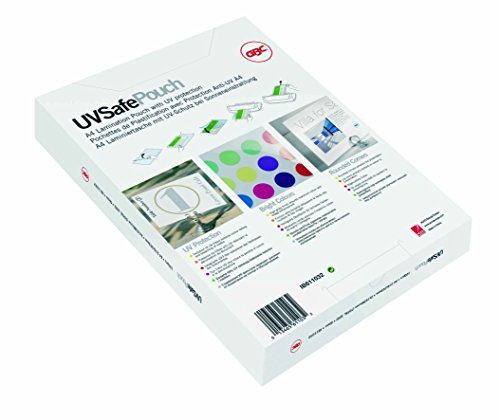 GBC 2x100 Micron A4 Gloss UV Safe Laminating Pouch (Pack of 100) from GBC