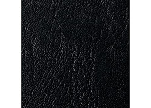 GBC 46700E A4 Leather Grain Binding Covers 250gsm - Black from GBC