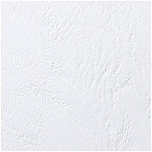 GBC LeatherGrain Leather Grain Cover Plates, Size A4 (250g / m2, White, Pack of 100) from GBC