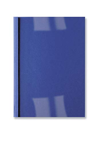 GBC LeatherGrain Thermal Binding Covers, 6 mm, 50 Sheet Capacity, A4, Royal Blue, Pack of 100, IB451034 from GBC
