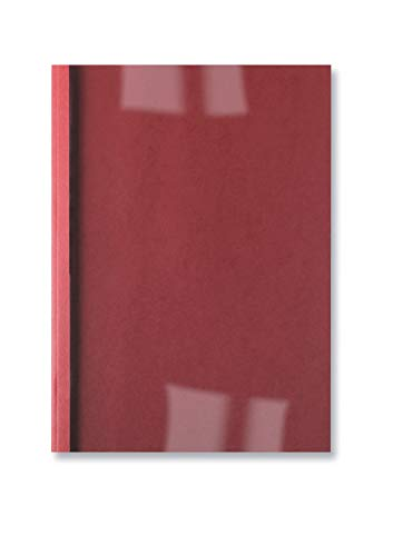 GBC LeatherGrain Thermal Binding Covers, 3 mm, 30 Sheet Capacity, A4, Red, Pack of 100, IB451218 from GBC