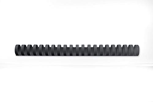 GBC CombBind Binding Combs, 25 mm, 225 Sheet Capacity, A4, 21 Ring, Black, Pack of 50, 4028182 from GBC