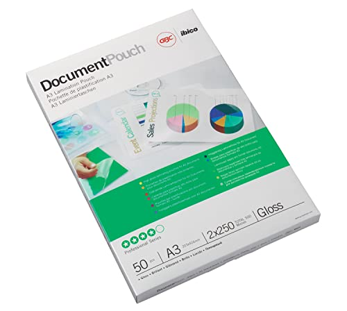 GBC Document Laminating Pouches A3 2 x 37.5 Micron Gloss - Pack of 200 from GBC