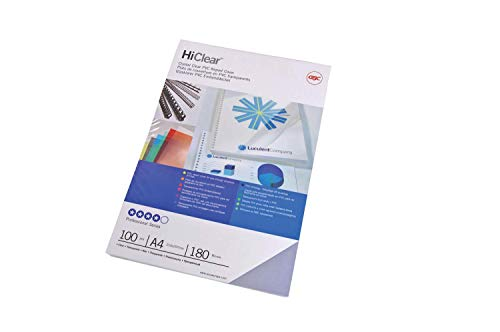 GBC HiClear Binding Covers, 150 micron, A4, Clear, Pack of 100, CE011580E from GBC