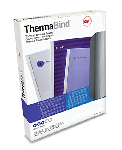 GBC Standard Thermal Binding Cover 12 mm A4 - Pack of 25, White from GBC