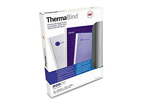 GBC Standard Thermal Binding Covers 9 mm with Transparent Wipe Clean Cover (White, Pack of 25) from GBC