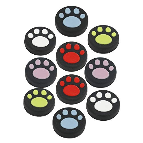 10 PCS Silicone Analog Joystick Thumb Stick Grips Cap For Nintendo Switch NS Joy-Con Controller ( Cute Cat Paw Claw) from GGZone