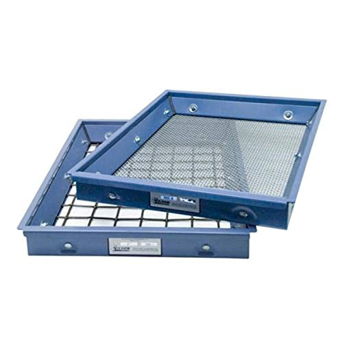 "Gilson TSA-101#12 ASTM Testing Screen Tray, 12 Size, 22.75"" Length, 14.75"" Wide, Stainless Steel from GILSON"