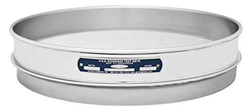 "Gilson V12SH #18 Stainless Steel Sieve, 18, 12"" Diameter, Half Height from GILSON"