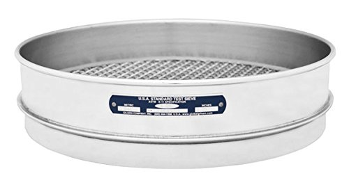 "Gilson V12SI #30 Stainless Steel ASTM Round Test Sieve, 30 Opening Size, 12"" Frame Diameter, Intermediate Height from GILSON"