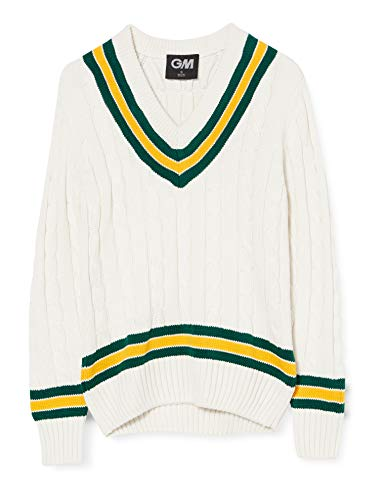 GM Cricket Sweater Green/Yellow Small Boys from GM Cricket