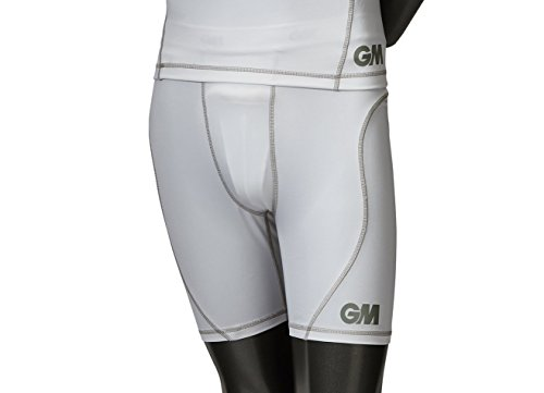GM Cricket Kid's Teknik Shorts, White/Silver, Medium from GM Cricket