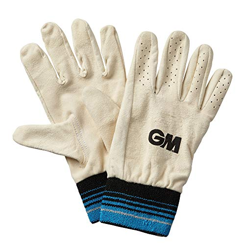 GM Men Full Chamois Leather Inner Gloves - Blue, Mens from GM Cricket