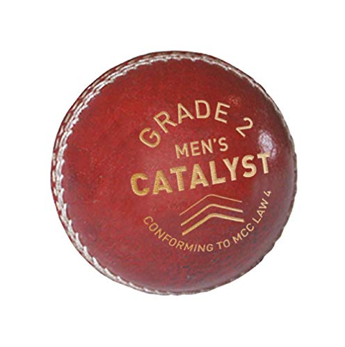 GM Cricket Unisex's Catalyst Grade 2 Cricket Ball, Red, One Size from GM Cricket