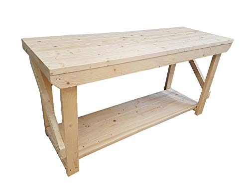 ACORN Wooden Workbench - Handmade Heavy Duty Work Table - Made From Construction Grade Timber (4ft) from Arbor Garden Solutions