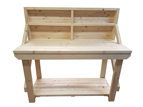 ACORN Wooden Workbench With Back Panel - Handmade Heavy Duty Work Table - Made From Construction Grade Timber (4ft) from Arbor Garden Solutions