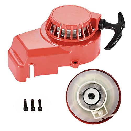 GOOFIT Alloy Pull Start Recoil Starter 2 Stroke 47cc 49cc Pocket Dirt Bike Mini ATV Red from GOOFIT