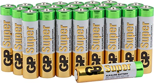 AAA Batteries Pack of 24 by GP Batteries SUPER Alkaline AAA Battery from GP