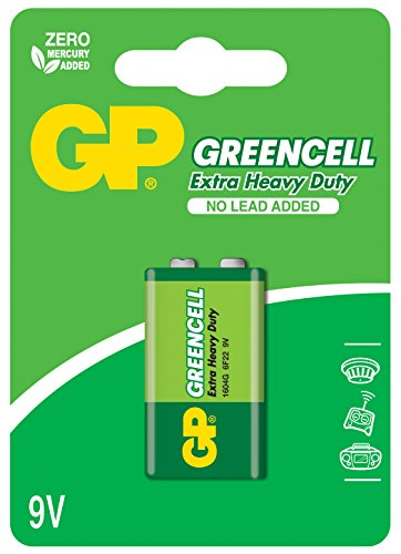 GP Greencell 9V PP3 Zinc Chloride Battery from GP