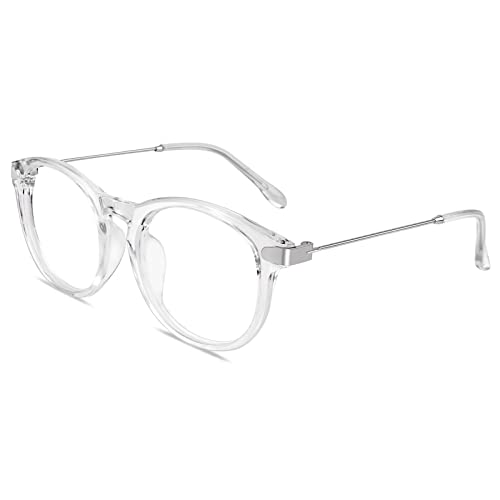 GQUEEN Fashion Horn Rimmed Keyhole Metal Temple Clear Lens Glasses PE8 from GQUEEN
