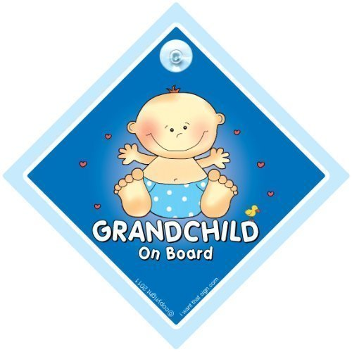 Grandchild on board sign, Grandchild on Board, Big Blue, Baby on Board Sign, baby on board, Grand Child On Board Car Sign, Grand Parents Car Sign, Grandson On Board Sign, Grandchild On Board Sign, Baby Car Signs from GRANDCHILDREN iwantthatsign.com