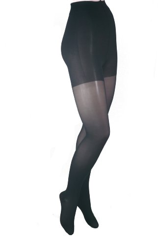 GABRIALLA 20-22 mmHg Medium Black H-150 Sheer Pantyhose Compression - Pack of 3 from Gabrialla
