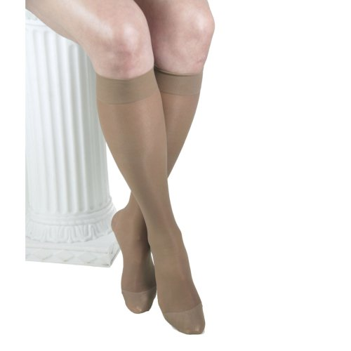 GABRIALLA 20-22 mmHg Small Beige H-160 Sheer Knee Highs Compression - Pack of 3 from Gabrialla