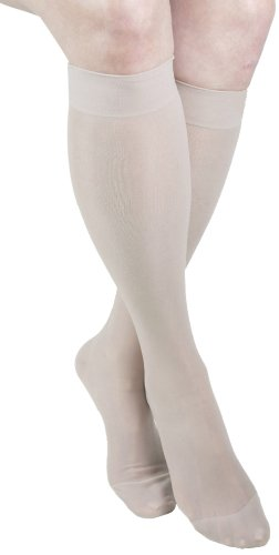 GABRIALLA 20-22 mmHg Small Nude H-160 Sheer Thigh Highs Compression - Pack of 2 from Gabrialla