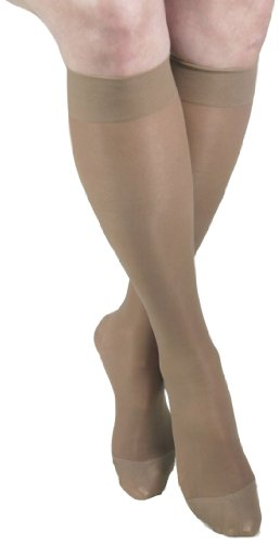 GABRIALLA 20-22 mmHg XLarge Beige H-160 Sheer Thigh Highs Compression - Pack of 2 from Gabrialla