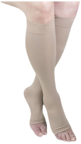GABRIALLA 25-35 mmHg Small Beige H-304(O) Microfiber Knee Highs Compression - Pack of 3 from Gabrialla