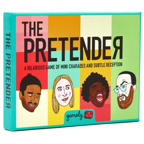 The Pretender: The hilarious pocketsize party game of subtle deception from Gamely