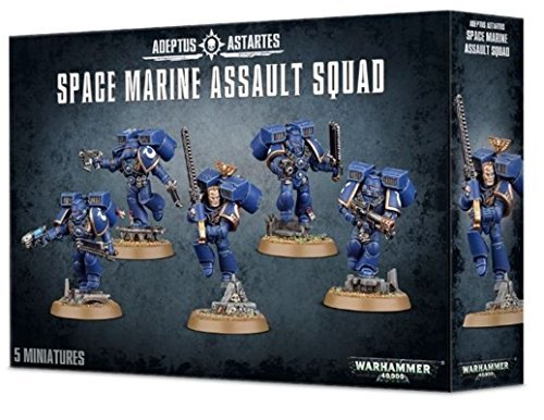 "Games Workshop 1019966"" Space Marines Assault Squad Tabletop and Miniature Game from Games Workshop"