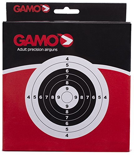 Gamo Air Rifle / Gun / Pistol bullseye pellet targets - set of 100. Standard 14cm square size (Also see our mixed target set) from Gamo