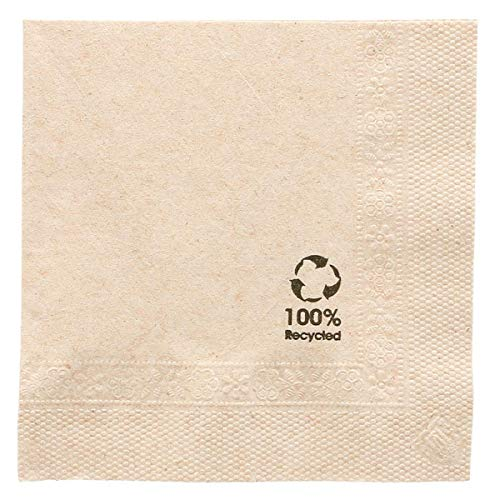 Napkins Ecolabel 2 Ply 18 Gsm 20X20 Cm Natural Recycled Tissu - 4800 Units from García de Pou