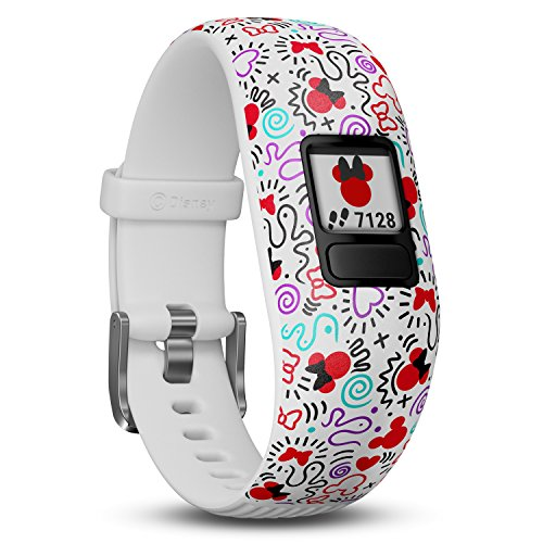 Garmin vivofit Jr. 2 - Disney Minnie Mouse Fitness Activity Tracker for Kids - Adjustable Band - Multicolour from Garmin