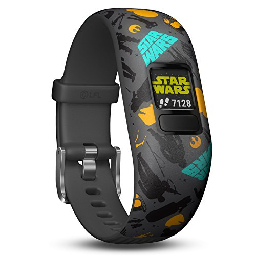 Garmin vivofit Jr. 2 - Star Wars The Resistance Fitness Activity Tracker for Kids - Adjustable Band - Grey and Yellow from Garmin