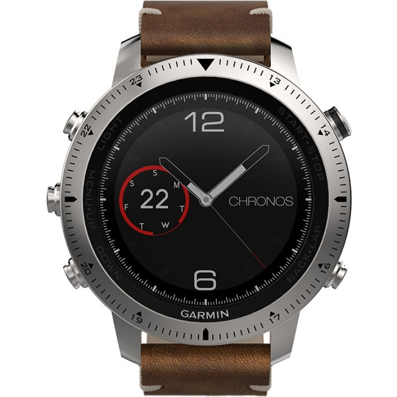 Mens Garmin Fenix Chronos Bluetooth GPS HR Alarm Chronograph Watch from Garmin