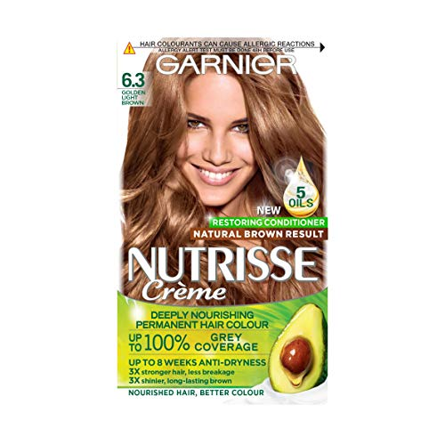 Garnier Nutrisse 6.3 Golden Light Brown Permanent Hair Dye from Garnier