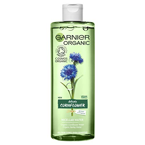 Garnier Organic Cornflower Micellar Cleansing Water for Sensitive Skin, Soothing Face and Eye Make-up Remover and Cleanser 400 ml from Garnier