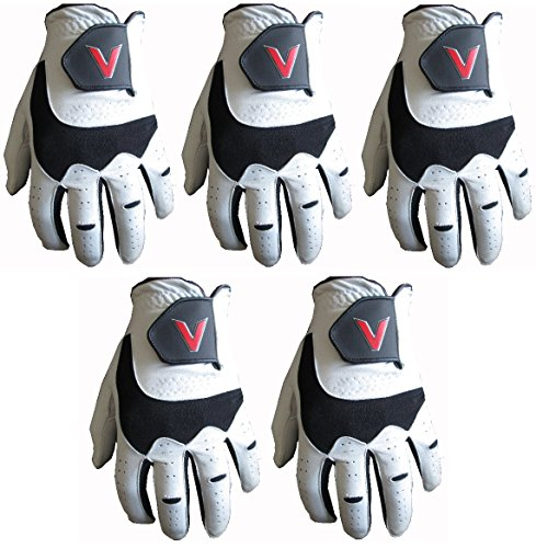 5 100% Cabretta Leather Golf Gloves V Logo (Large, right) from Gator