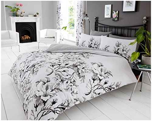Gaveno Cavailia Luxurious Eden Bed Set with Duvet Cover and Pillow Case, Polyester-Cotton, Grey, King from Gaveno Cavailia