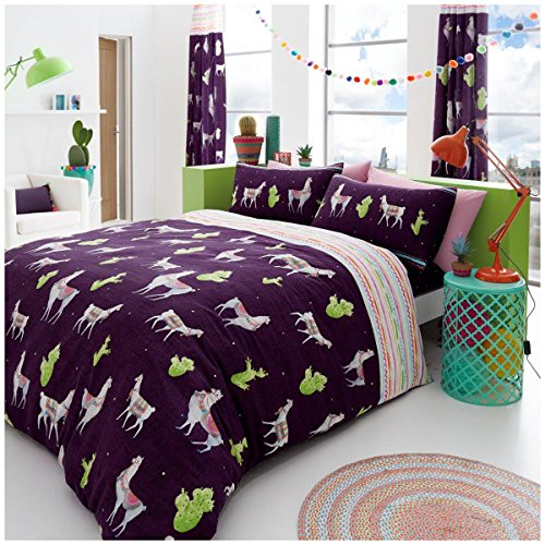 Gaveno Cavailia Luxurious LLAMA Bed Set with Duvet Cover and Pillow Cases, Polyester-Cotton, Multi, King from Gaveno Cavailia