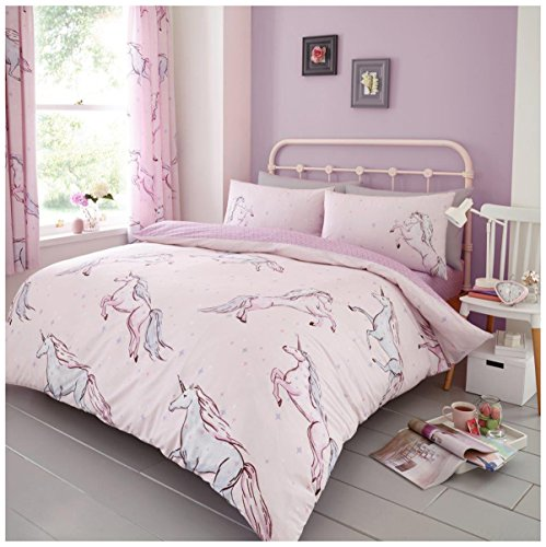 Gaveno Cavailia Luxurious STAR UNICORN Bed Set with Duvet Cover and Pillow Cases, Polyester-Cotton, Pink, King from Gaveno Cavailia