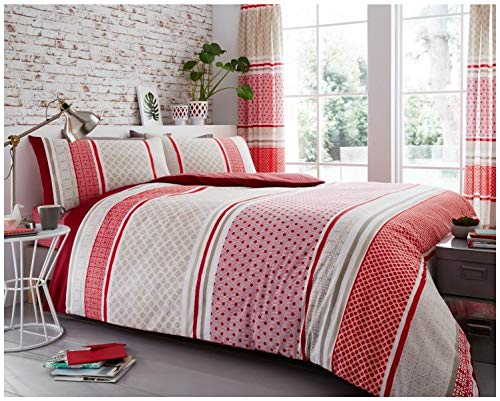 Gaveno Cavailia Luxury CHARTER STRIPE Bed Set with Duvet Cover and Pillow Case, Polyester-Cotton, Natural, Double from Gaveno Cavailia
