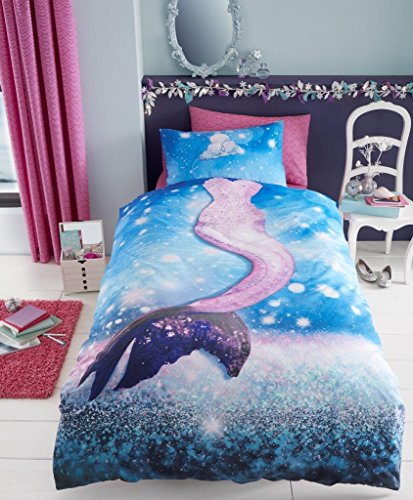 Gaveno Cavailia Mermaid Kids Children Design Luxurious Duvet Cover Sets Reversible Bedding Sets with Pillowcase (Single Duvet Set) from Gaveno Cavailia