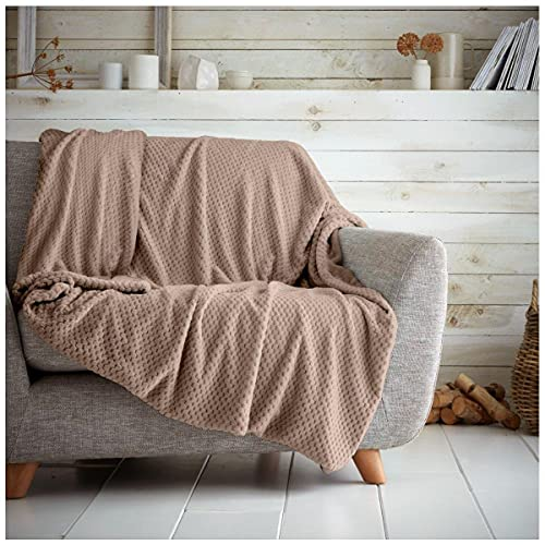 Gaveno Cavailia Cosy and Cuddly POPCORN Fleece Throw Blanket, 200 x 240 Cm, Polyester, King, Oyester from Gaveno Cavailia