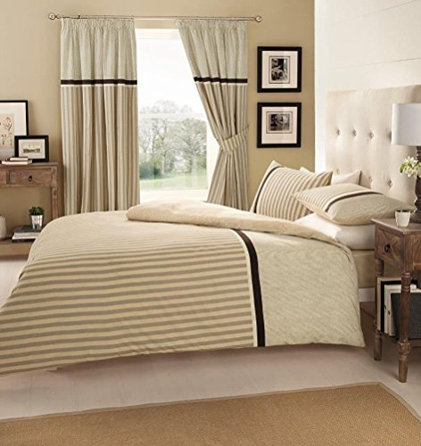 Gaveno Cavailia Luxury VALERIA Bed Set with Duvet Cover and Pillow Case, Polyester-Cotton, Natural, Double from GAVENO CAVAILIA