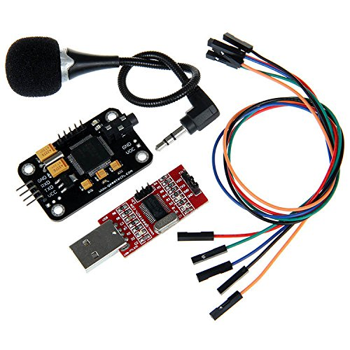 Geeetech High Sensitivity Voice Recognition Module with Microphone + USB to RS232 TTL Converter + Jumper wires for Arduino from Geeetech